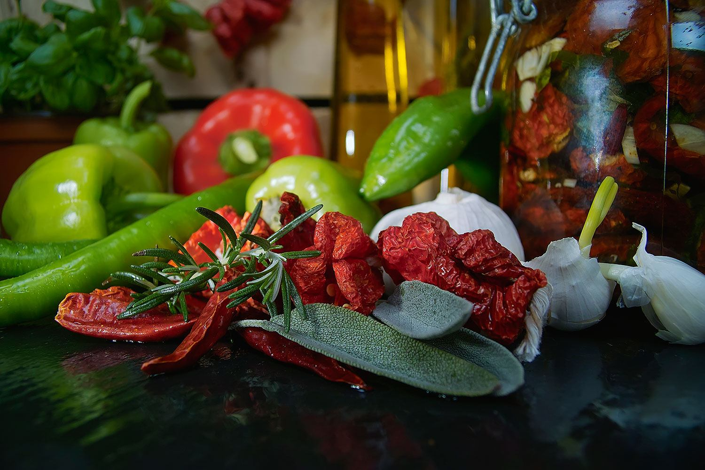 Fototapete Mediterranes Gemüse