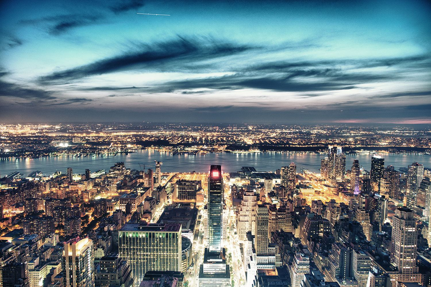 Photo Wallpaper Skyline Manhattan City Lights
