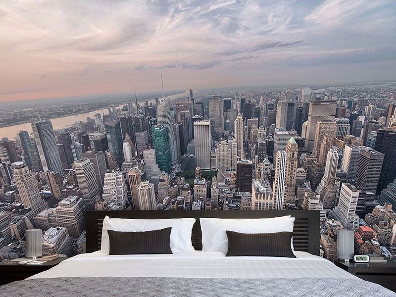 fototapete skyline. Black Bedroom Furniture Sets. Home Design Ideas