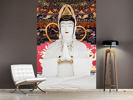 Photo Wallpaper Meditating Buddha Statue