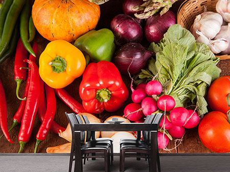 Photo Wallpaper Healthy Vegetables