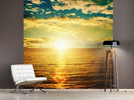 Photo Wallpaper Photo Wallaper Sunset On The Sea Horizon