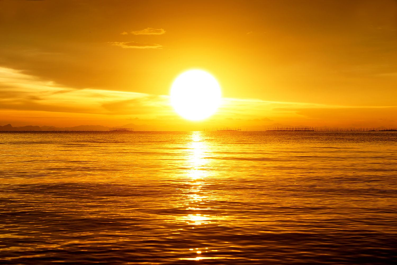 Fototapete Traumhafter Sonnenuntergang