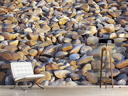 Photo Wallpaper Beach Stones