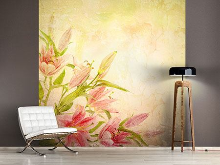 Photo Wallpaper Painting Lily