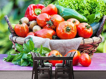 Photo Wallpaper Vegetable Basket