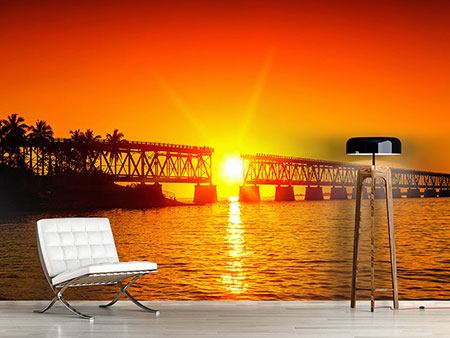 Photo Wallpaper Sunset On The Bridge