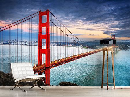 Fotomurale Il Golden Gate Bridge al tramonto