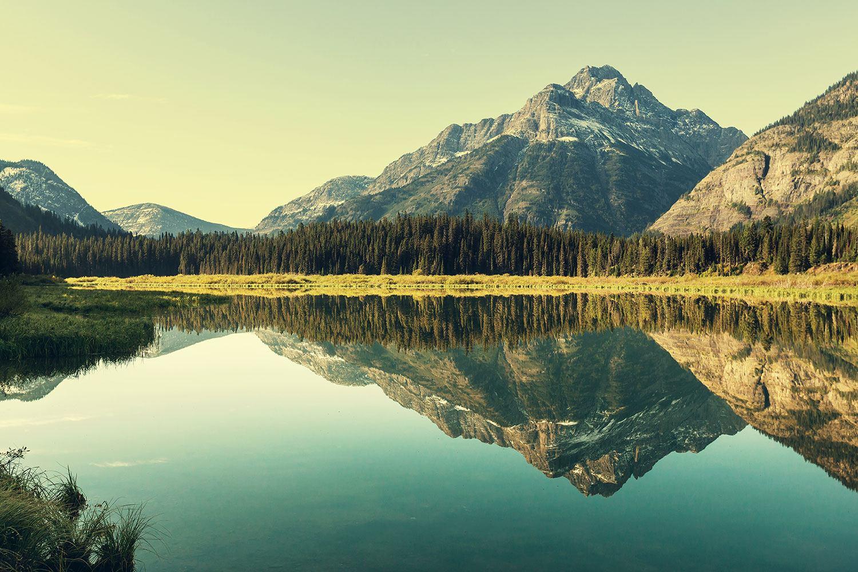 Fototapete Der Bergsee