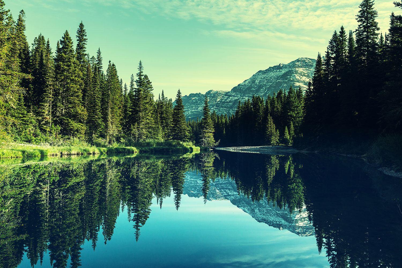 Fototapete Die Musik der Stille in den Bergen