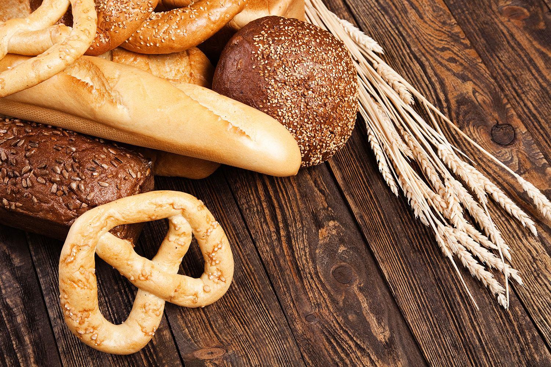 Fototapete Brot und Bretzel