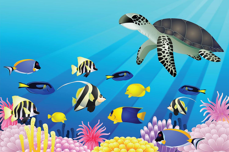 Fototapete Kinder Unterwasserwelt - Jetzt bestellen!
