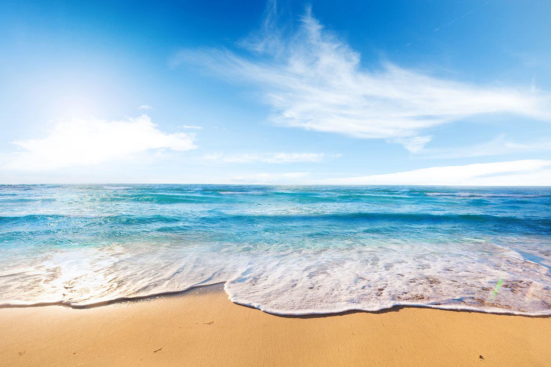 Fototapete Spuren im Sand